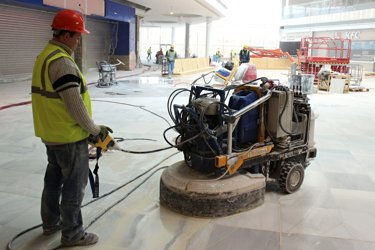 grinding and polishing marble floor
