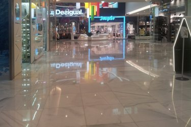 shopping centre polished marble floors
