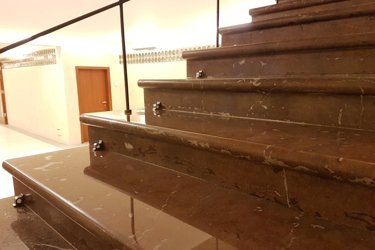 restoration and polishing marble staircase